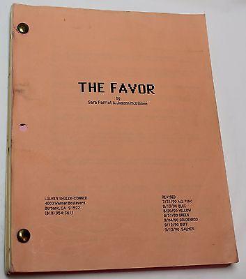 The Favor * 1990 Original Early Revised Movie Script * 90's Brad Pitt Film