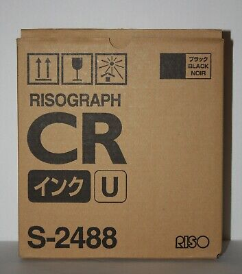 2 Two Riso Brand - Risograph Ink S-2488 - Black Ink 800mlea
