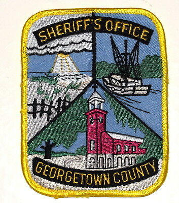 GEORGETOWN COUNTY SOUTH CAROLINA SC Sheriff Police Patch FISHING BOAT SAIL BOAT