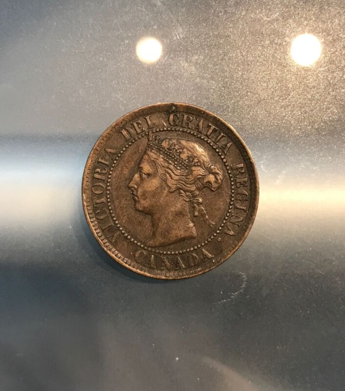 CANADA 1884 ONE LARGE CENT, 2/1/17