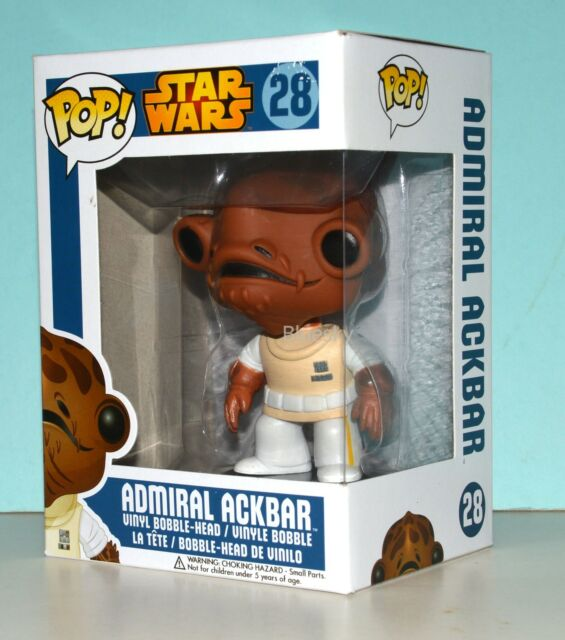 Funko Pop Star Wars Admiral Ackbar Bobble Head Figure #28