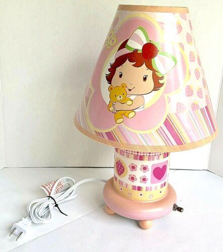 Strawberry Shortcake Nursery Lamp Pink White Modern Electric Working