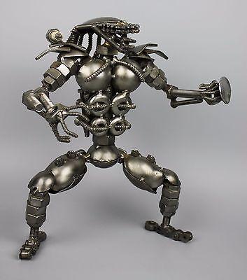Scrap Metal Sculpture Model Recycled Handmade Art Predator 2