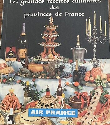 Vintage 1961 AIR FRANCE COOKBOOK 35 Recipes Chef Of French Provinces Advertising