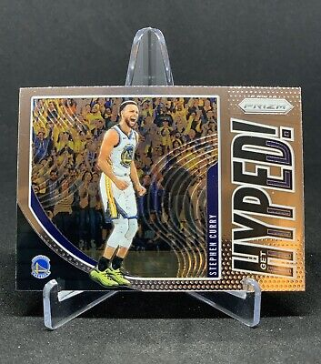 Stephen Curry Steph 2019-20 Get Hyped! Prizm #4 Insert Golden State Warriors