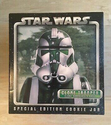 Star Wars Clone Trooper Gree Collectors Edition Cookie Jar Bust Statue Cards Inc