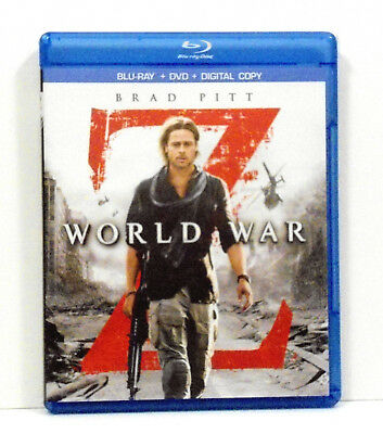 World War Z Blu Ray + DVD 2 discs