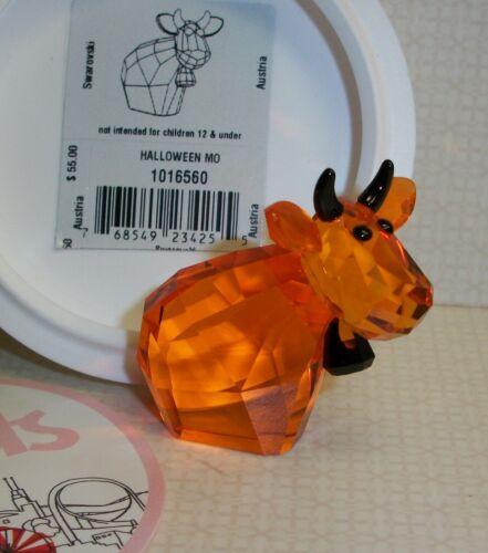 "Swarovski Crystal ""Halloween Mo"" Lovlots Cow with Original Labeled Box 1016560"