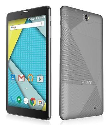 "Plum Optimax 4G Tablet Phablet GSM 8"" Display Android ATT TMobile Z811GRAYY"