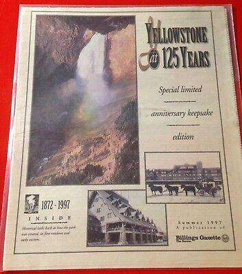 Original Summer 1997 Billings Gazette Newspaper  Yellowstone Park At 125 Years