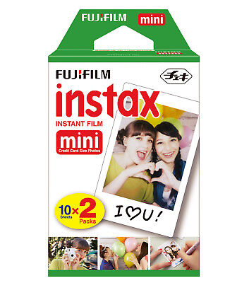 Fujifilm Instax Mini Instant Film Twin Pack for Fuji 50s 25 7s 90 8 & 9 Exp.7/18