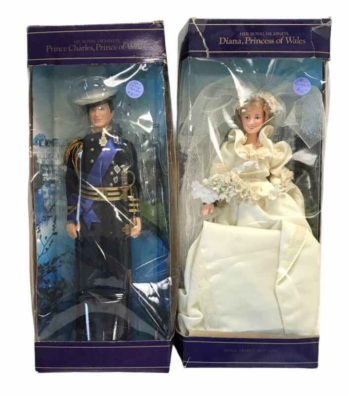 Goldberger Princess Diana & Prince Charles Vinyl Dolls 1982