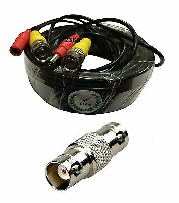 100 Feet Video and Power Cable for CCTV Security Cameras for Q-See Cameras