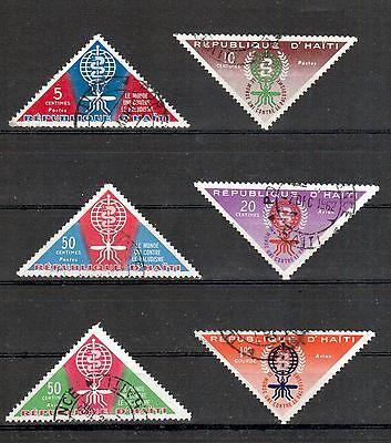 Haiti Michelnummer 697 - 702 gestempelt ( Übersee : 1125 )