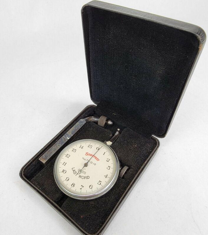 "Starrett Co. Last Word 711-D10 .0001"" Dial Indicator in Original Case"