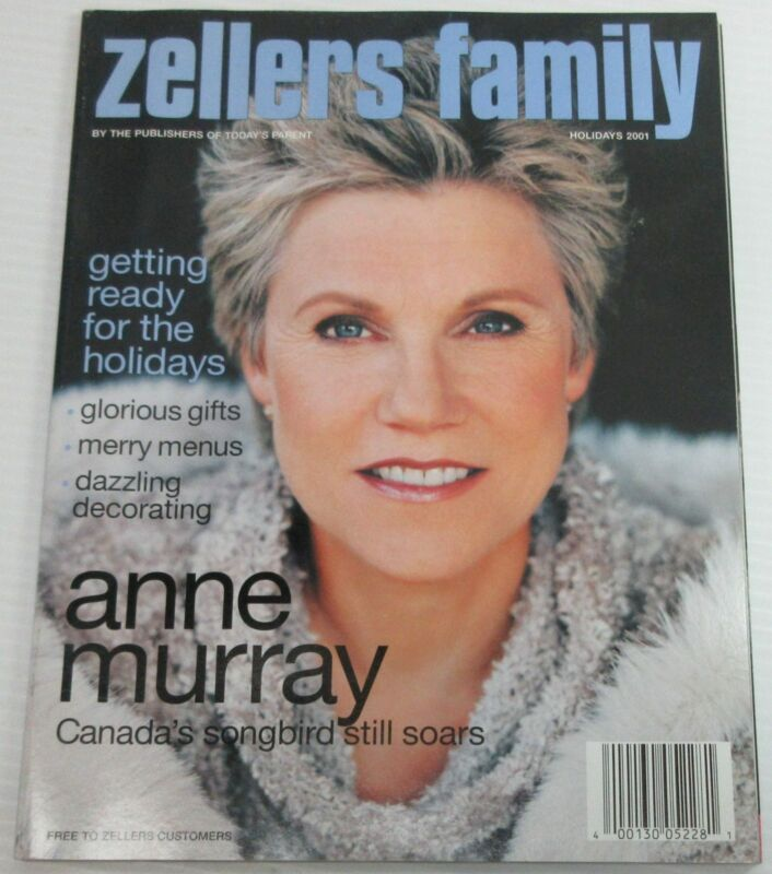 Zellers Family Holiday 2001 Magazine - Anne Murray Cover