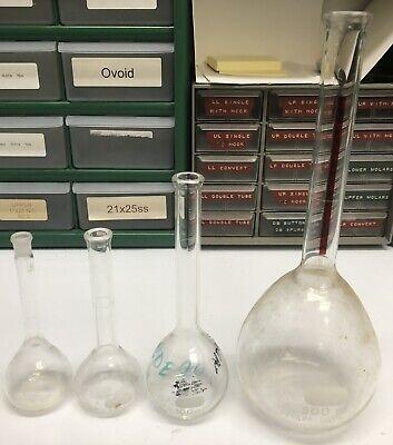 4 Volumetric Flask Pyrex Lot