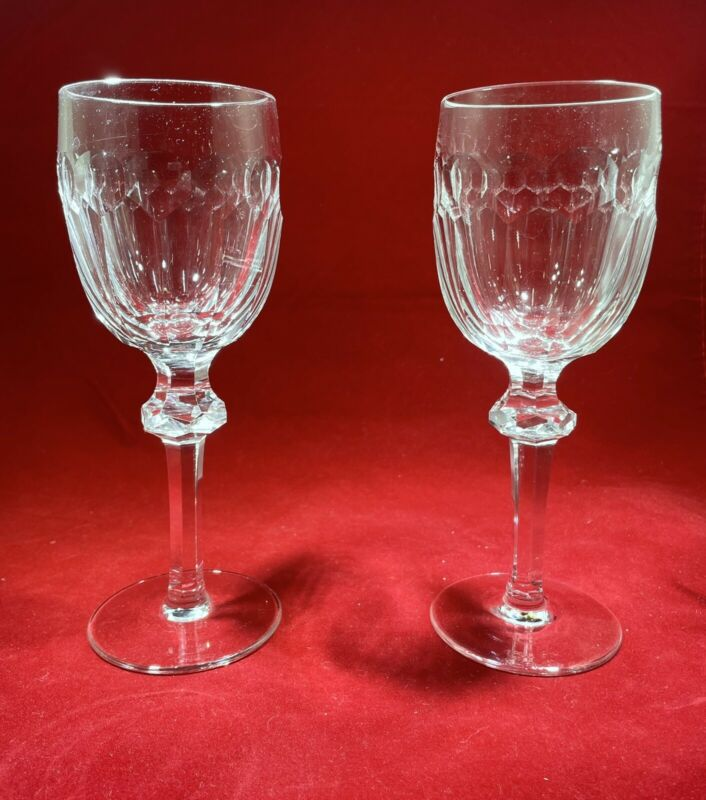 Waterford Curraghmore Claret Wine Glasses. Mint Condition!! Set Of 4
