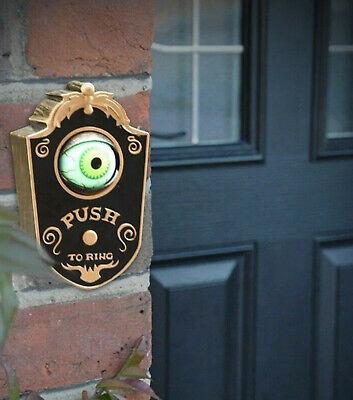 Gemmy Halloween Animated Light Up Talking Eyeball Doorbell Haunted House Prop