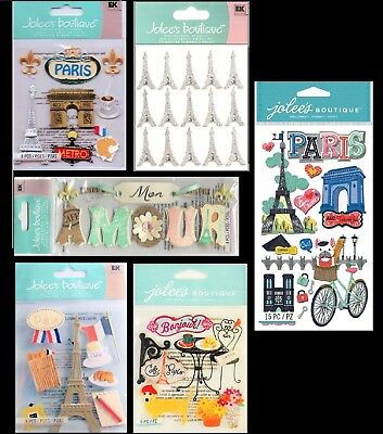 Paris Metro Eiffel Tower - U CHOOSE Jolee's PARIS Stickers Cafe Metro Mon Amour France Eiffel Tower