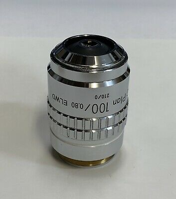 Nikon Bd Plan 100x Elwd Microscope Objective 210mm Extra Long Working Distance