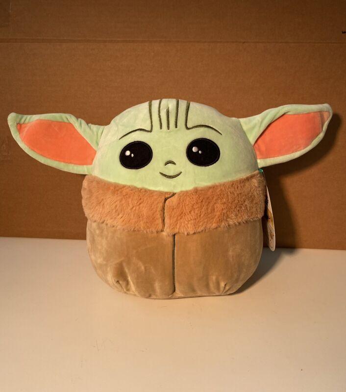 "Squishmellow Mandalorian The Child Baby Yoda 10"" Plush NWT"