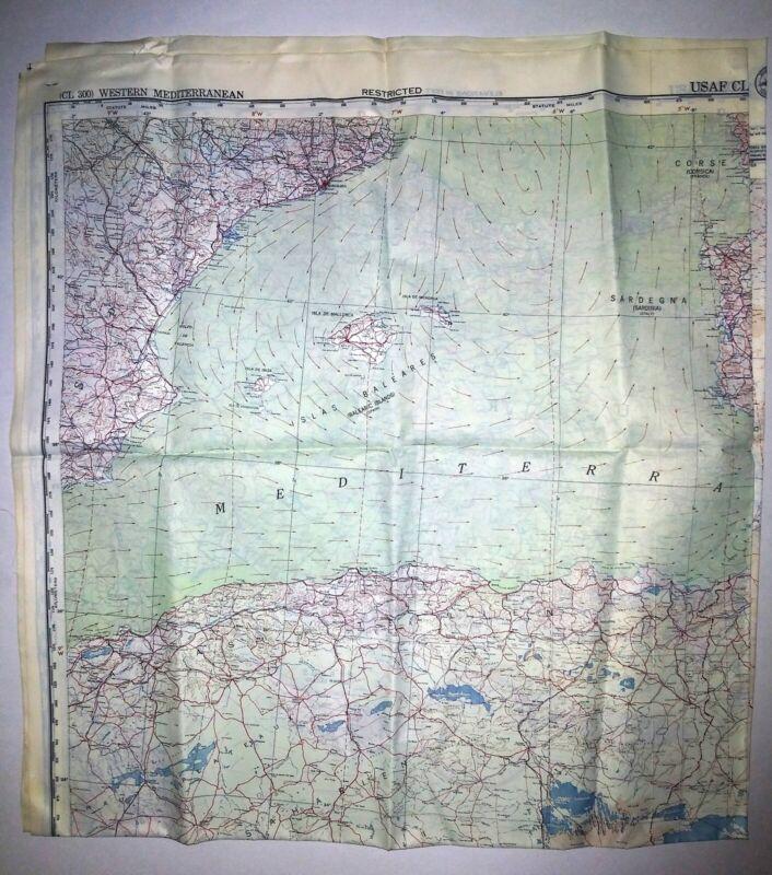 Cloth Map Western Mediterranean 1950
