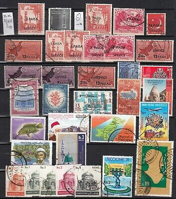 PAKISTAN 1959 1988   lot of 72 stamps on 2 pages