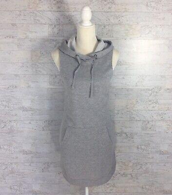 FABLETICS Womens Size Small Yukon Dress Gray French Terry Kangaroo Pocket NEW