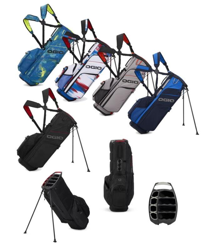 Ogio WOODE HYBRID 8 Stand Golf Bag - Black - New 2021