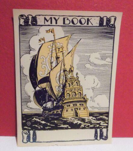 Vtg Nautical SHIP Bookplates Ex Libres by Rudolph Guzzardi  Pkg of 40 Out of 75