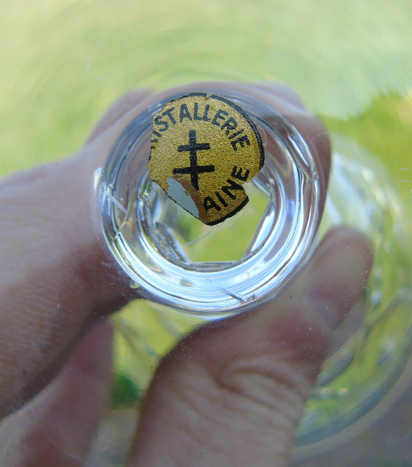Cristallerie de lorraine lemberg service de 6 verres vin blanc cristal tail - Cristallerie de lorraine ...