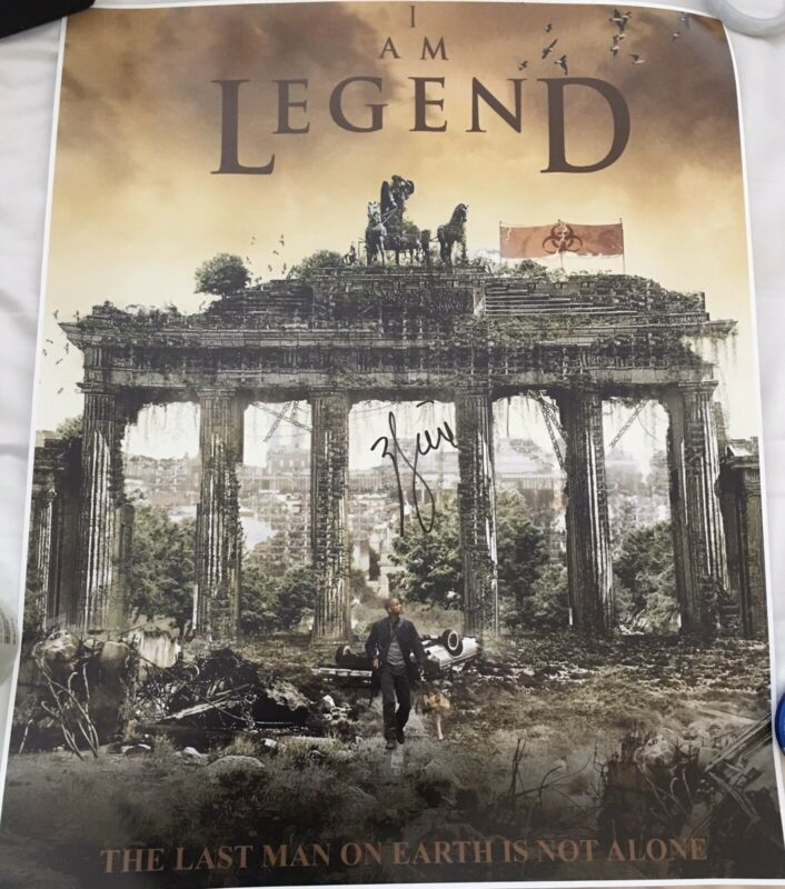 """WILL SMITH SIGNED AUTOGRAPH """"I AM LEGEND"""" RARE HUGE 16x20 MOVIE POSTER PHOTO A"""