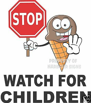 Stop Watch For Children Vinyl Decal 14 Concession Ice Cream Food Truck Cart