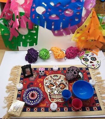 Day Of The Dead Items (Day of the Dead Altar Kit 6 Dia De Los Muertos Ofrenda Items Shrine)