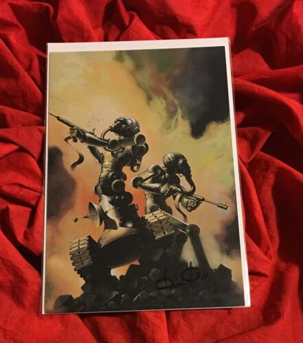ELITE WARRIORS ROBOT~FPG COLOSSAL CARD SIGNED BY CONAN+KISS ARTIST KEN KELLY #24