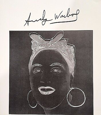 COMPELLING ANDY WARHOL HAND SIGNED SIGNATURE * MYTHS: MAMMY *  PRINT  W/ C.O.A.