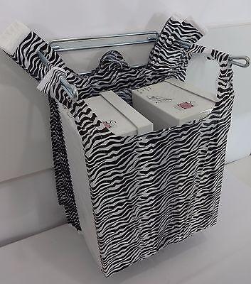 Zebra Print Design Plastic T-shirt Retail Shopping Bags Handles 11.5 X 6 X 21