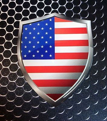 "Republican Proud USA Shield Flag Domed Decal Emblem Car Sticker 3D 2.3/""x 3.3/"""