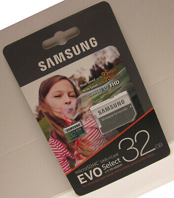 Samsung 32GB Micro EVO select U2 SD card for Akaso V50 Pro elite EK7000 Brave 4 ()