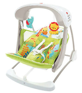 Fisher Price Rainforest Take Along Swing Amp Seat Chair Baby