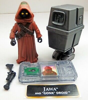 Star Wars POTF2 Jawa & Gonk Droid Action Figures - Loose, Mint!