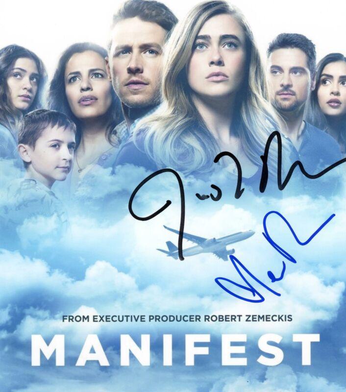 "Melissa Roxburgh & Josh Dallas ""Manifest"" AUTOGRAPHS Signed 8x10 Photo ACOA"