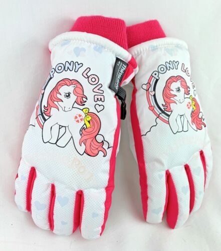 My Little Pony Love Gloves M/L Snow 2015 Thinsulate Insulation Pink White