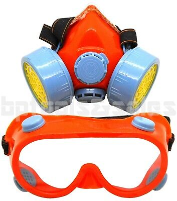 High Grade Anti-dust Paint Respirator Mask Gas Safety Chemical Paint W Goggles