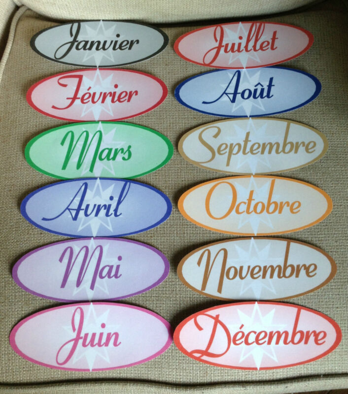 Months of the Year in French for Your Classroom
