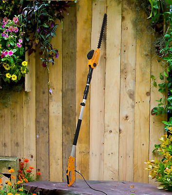 Electric Long Reach Telescopic Pole Pruner Hedge Trimmer Garden Bush Cutter 550W for sale  Shipping to Ireland