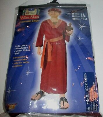 Biblical Times WISE MAN Costume L 12-14 Child NEW Robe Belt Headpiece Youth 3pc](3 Wise Man Costume)
