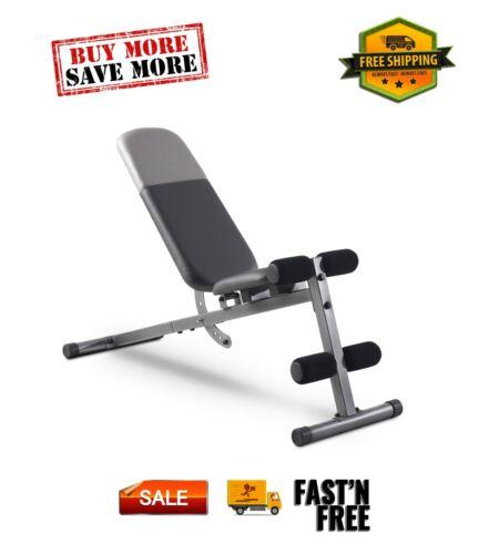 Weider XR 5.9 Adjustable Workout Bench 4-Roll Leg Lockdown, 410 Lb. Weight Limit
