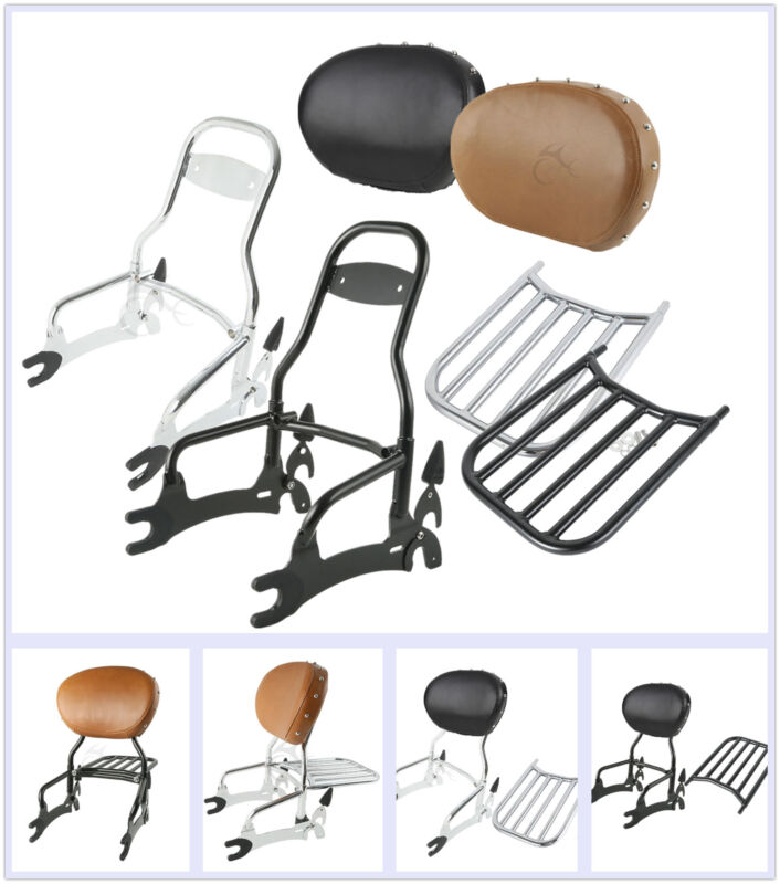"""Passenger 12/"""" Backrest Sissy Bar/&Pad Luggage Rack For Indian Chief Classic 14-18"""